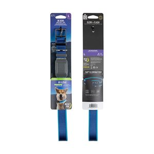 NiteIze NiteDog Rechargeable LED Collar - L - Blue/Blue LED