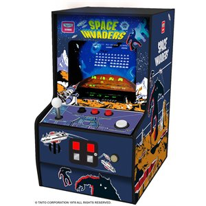 "DreamGear 6.75"" COLLECTIBLE RETRO SPACE INVADERS MICRO PLAYER-BLUE"