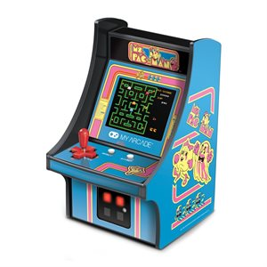 "DreamGear 6.75"" COLLECTIBLE RETRO MS. PAC-MAN MICRO PLAYER845620032303"