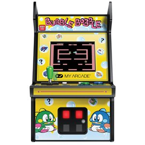 "DREAMGEAR 6.75"" COLLECTIBLE RETRO BUBBLE BOBBLE MICRO PLAYER"
