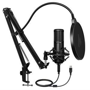 Microphone pour podcast avec processeur sonore professionnel MAONO