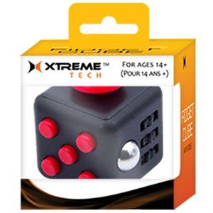 XTREME - Présentoir de Fidget Cube - 24 mcx - mix de 4 couleurs: rouge,  bleu, noir et jaune.